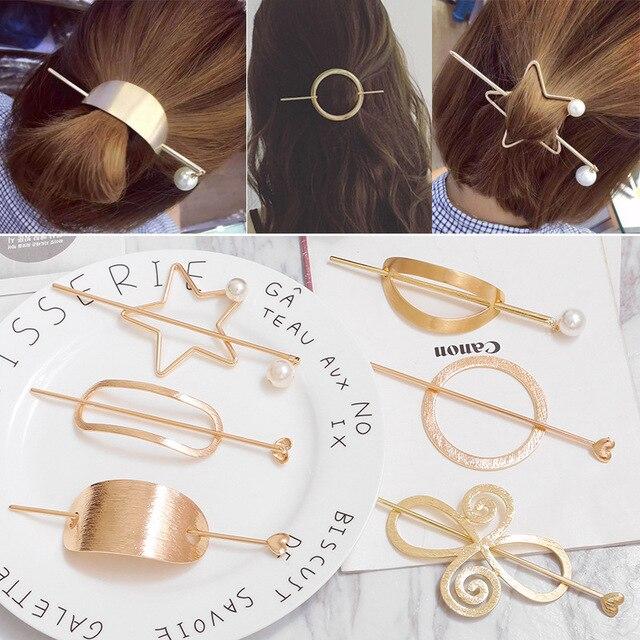 2020 Original Design Alloy Round Top Hairpin Bun Cage Minimalist Bun Holder Cage Hair Stick Girl Hair Accessories Hair Jewelry