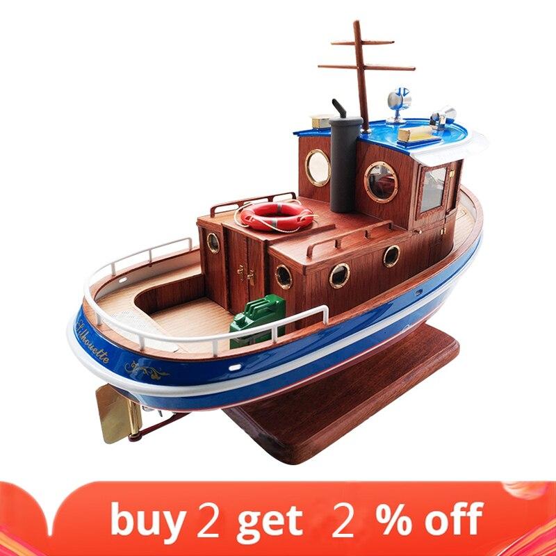 Micro Tug M3 1:18 273mm Wooden model ship kit RC model christmas gift for children toys for kid
