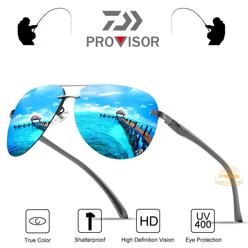 Gafas de sol polarizadas para pesca al aire libre para hombres Daiwa, protección UV para vacaciones en la playa