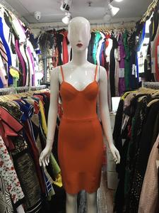 2019 New Women Red pink green black V-Neck Spaghetti Strap Celebrity evening party bodycon bandage dresses wholesale