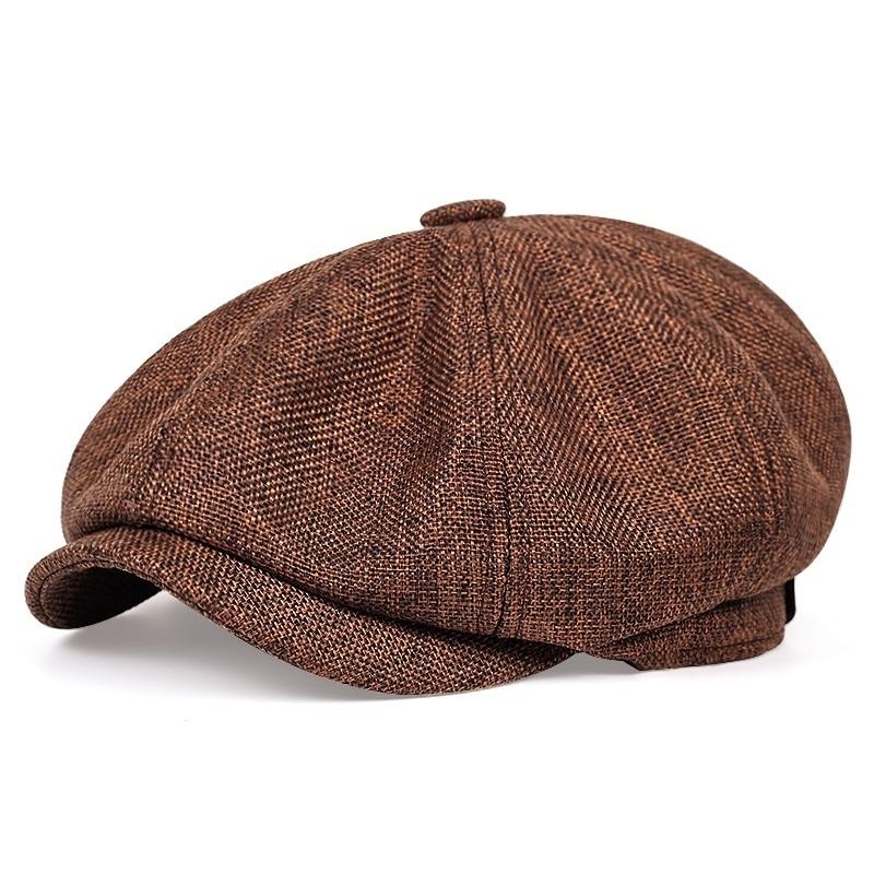 2021 New mens casual octagonal cap newsboy hat spring and autumn retro beret wild hats unisex