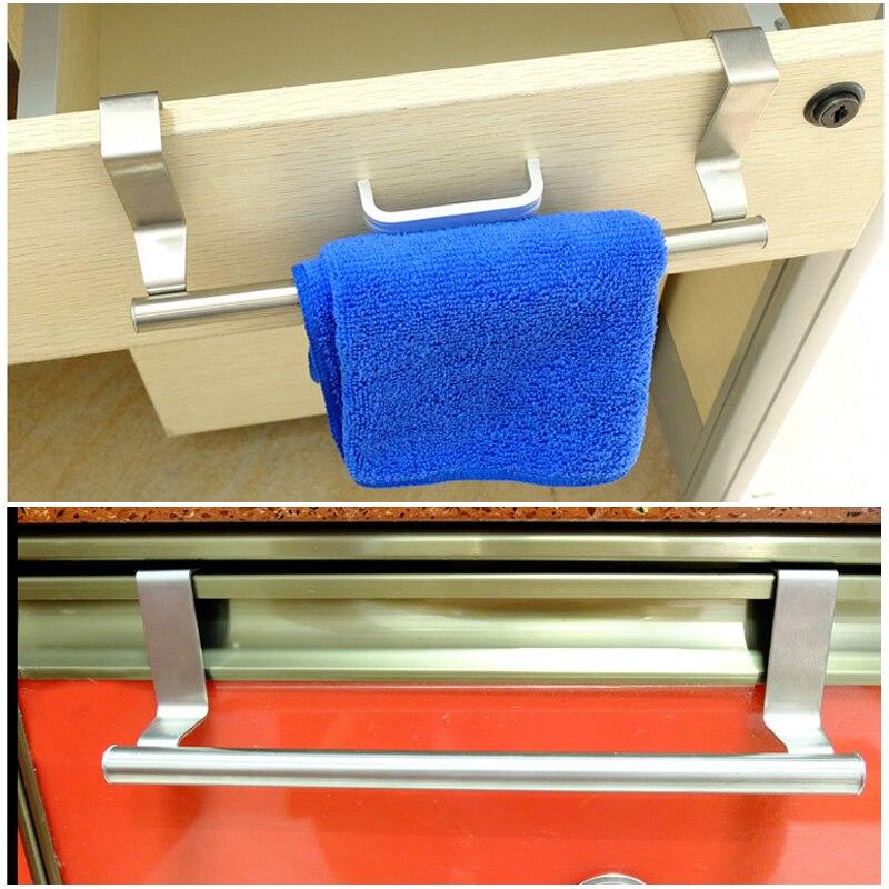 Вешалки для полотенец Над кухонным шкафом, дверная вешалка для полотенец, держатель для вешалки из нержавеющей стали, барный шкаф, рельсы для крыши