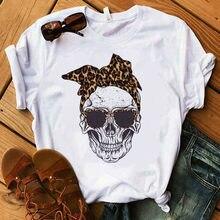 Women T-shirt Clothing Summer Woman Short Sleeve Skull Deer Camouflage Burlap Turban Tshirt Female T
