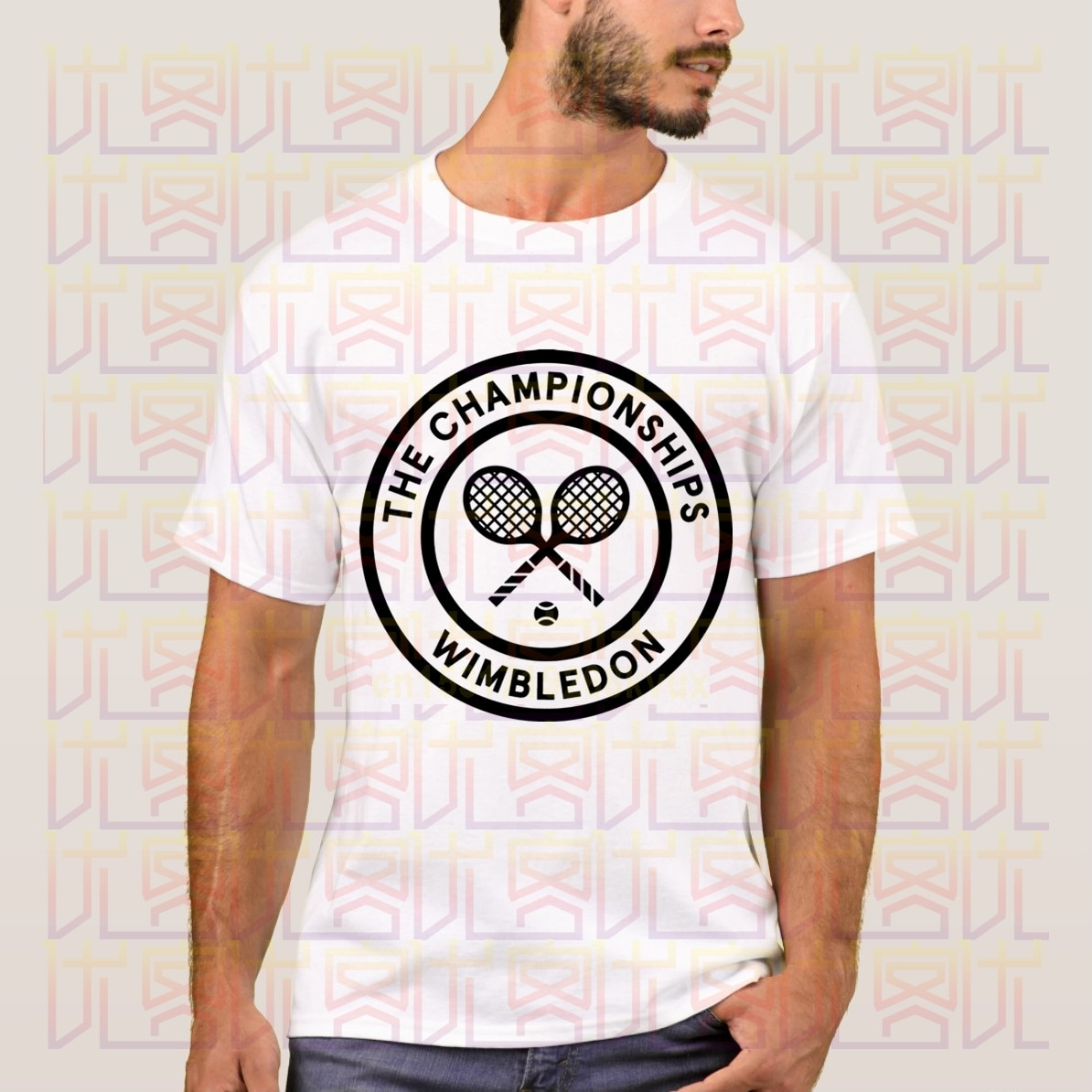 Nuevo Verano de 2020 el campeonato de Wimbledon logotipo 100% camiseta Casual de algodón Homme Tops Tees S-4XL
