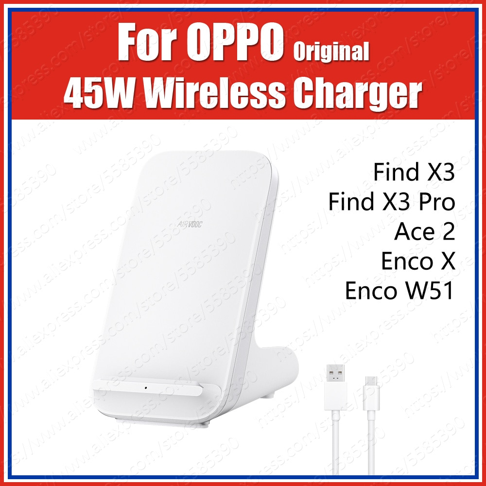 OAWV02 Original OPPO AirVOOC 45W Wireless Charger 10V 6.5A For OPPO Find X3 Pro Ace2 Enco X W51 Supe