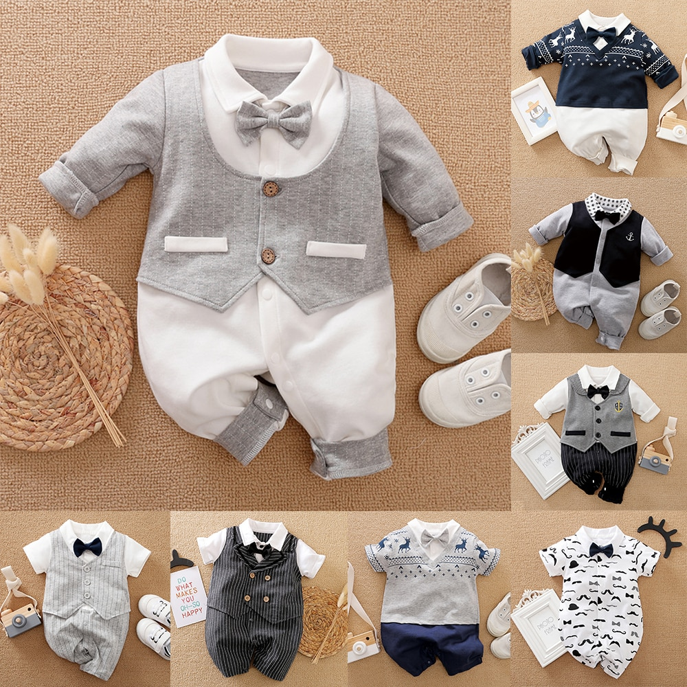 AliExpress - Malapina Baby Boy Romper Kids Summer Spring 0-24M Age Infant Gentleman Toddler Newborn Outfits Baby Girls Clothes 2021