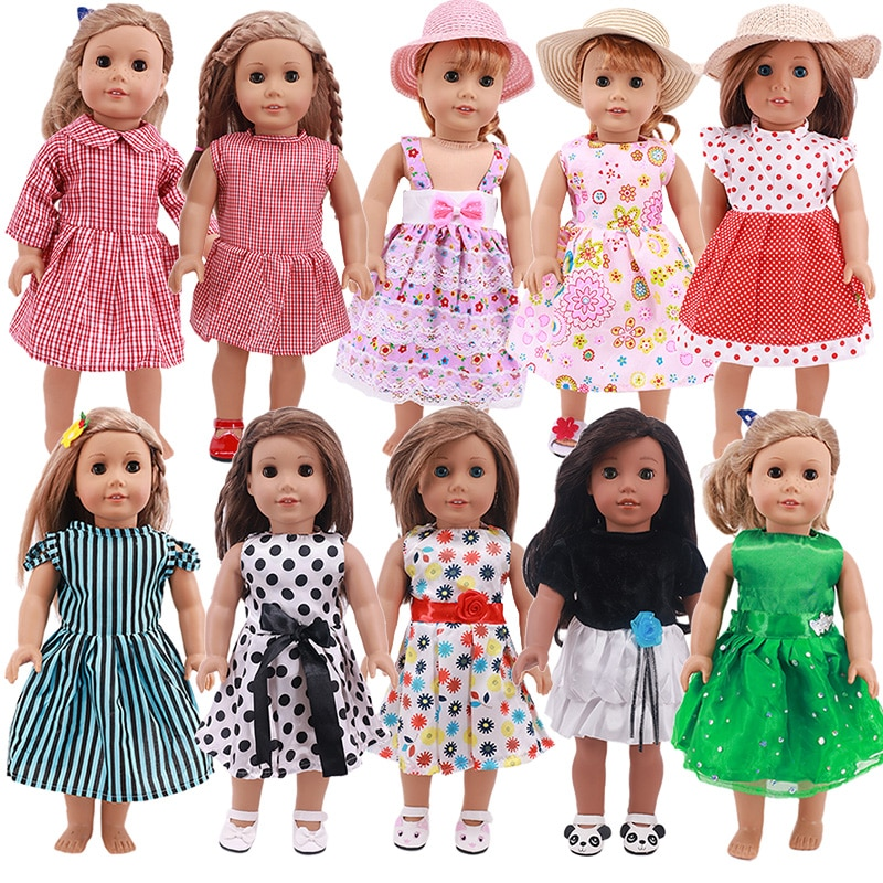 Promotion! Fashion Doll Dress Skirt Fit 18 Inch American OG Doll Clothes Accessories Our Generation Girl Toys doll accessories cute pajamas nightgown clothes for 18 inch american girl boy doll our generation