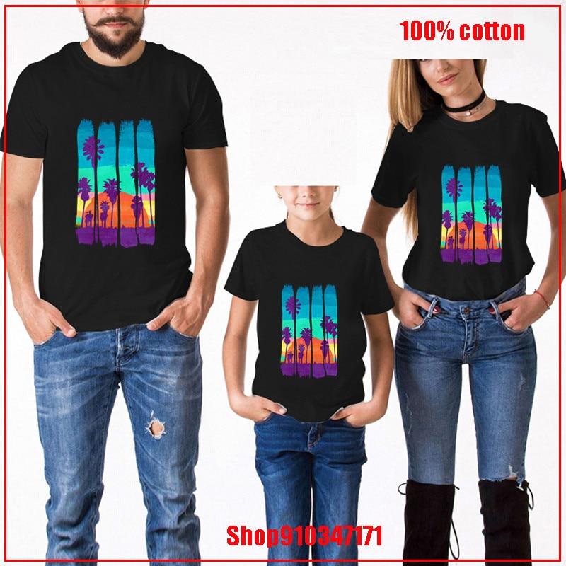 Vintage brocha Strokes Miami Beach verano puesta de sol niños ropa niños niño ropa tamaño 14 o 16 niños verano vestido camiseta