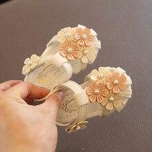 Chaussures dété roses blanches pour petites filles   Adorables sandales fleuries pour bébés filles, chaussures pour bébés