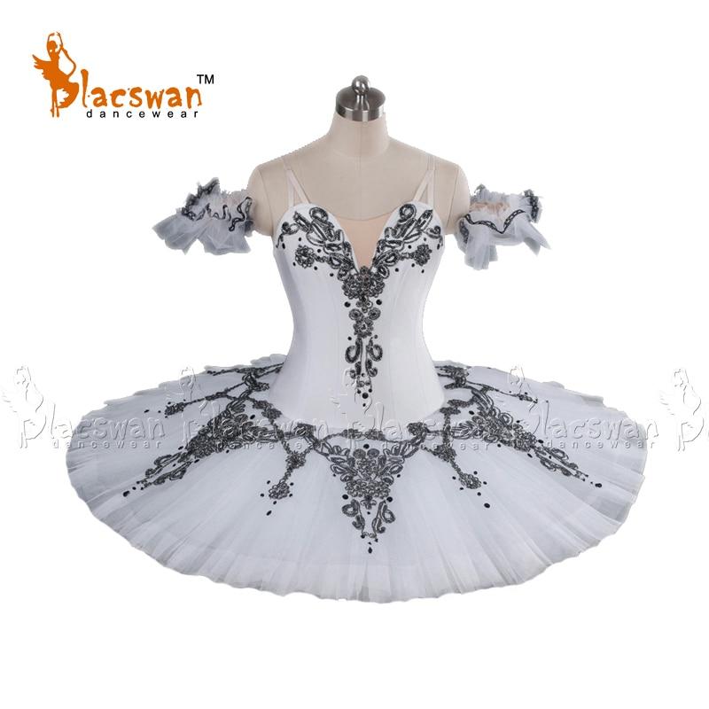 white wan lake ballet tutu adult professional ballet tutus pancake women Snow Queen White performance tutu Costume BT627
