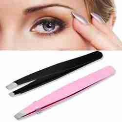 Preto/rosa sobrancelha pinça cabelo beleza inclinada extrator de aço inoxidável olho brow clips ferramenta de maquiagem remoção do cabelo remover tweeze