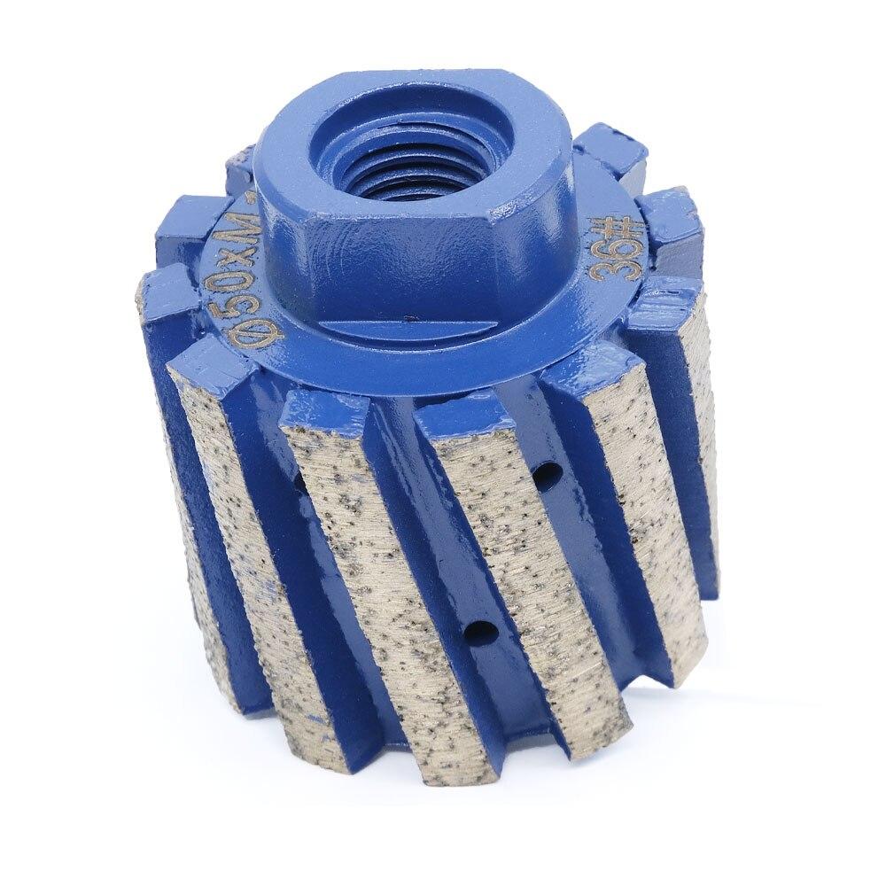 2 بوصة عجلة طحن بتصميم ماسة صفر التسامح طبل عجلة رابطة معدنية للحجر الجرانيت ملموسة وعاء ثقوب حافة الرملي