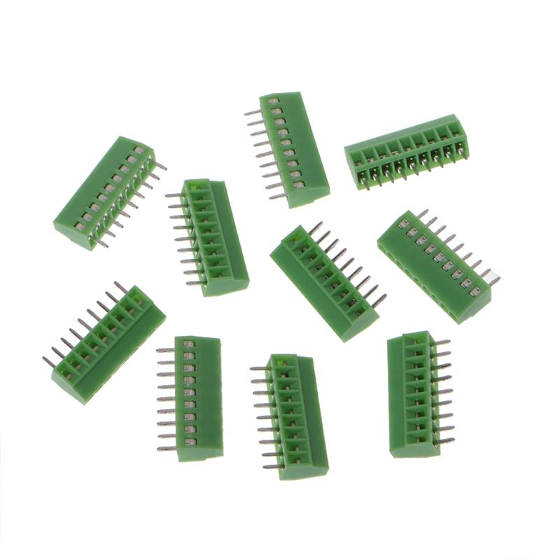 10 Pcs 2Pin-10Pin Screw PCB Mounted Terminal Blocks Connector 2.54mm Pitch
