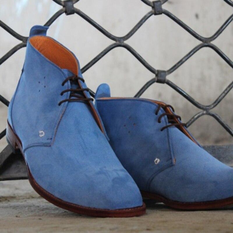 الرجال جديد الدانتيل يصل فستان أحذية الأزرق فو الجلد المدبوغ عالية مساعد الأحذية الأوروبية والأمريكية نمط الكلاسيكية تنوعا جودة عالية 8KH421