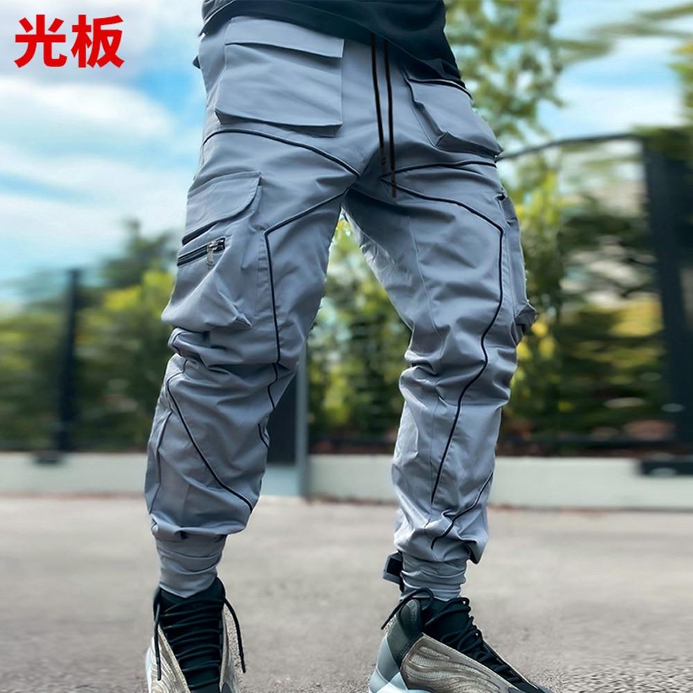 штаны брюки штаны мужские штаны в клетку мужская одежда брюки мужские спортивные штаны штаны оверсайз Брюки-карго мужские прямые в стиле хи...