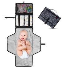 3 w 1 wodoodporny przewijak pieluchy podróży wielofunkcyjny przenośny pokrowiec na pieluchy dla niemowląt Mat czyste ręcznie składane torby Cambiador dziecko