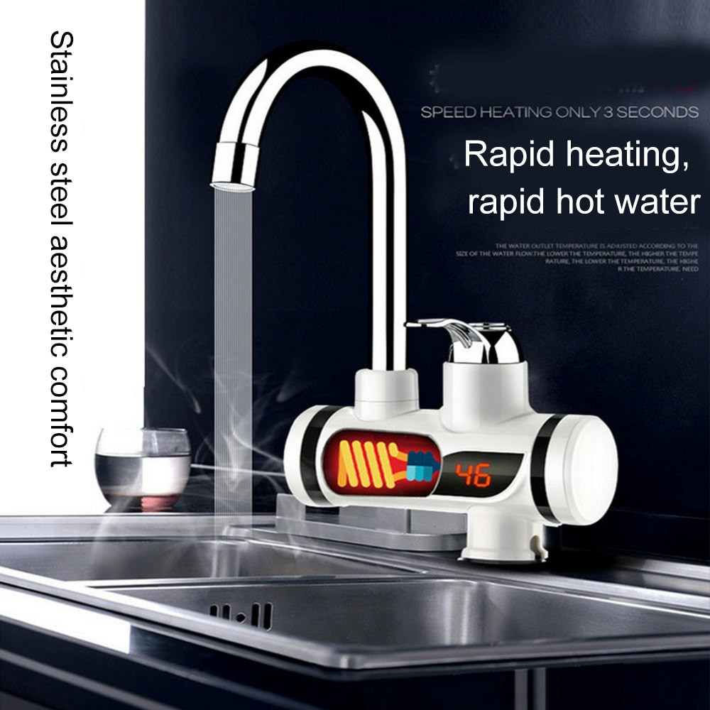 Kitchen Faucet Electric Water Heater Tap Instant Hot Water Faucet Heater Cold Heating Faucet Tankles