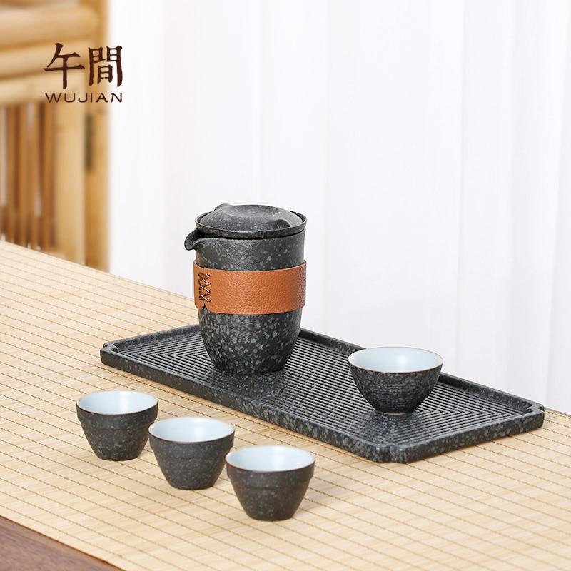 مجموعات أدوات خزفية للسفر محمولة أدوات خزفية إبداعية صناعة يدوية صينية بعد الظهر أدوات خدمة مطبخ تيوير DB60CJ
