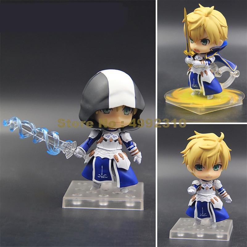 Anime fate/ grand order arthur excalibur 842 # cabeza de espada móvil cambiable colección de figuras de acción muñeca Linda 10cm juguete
