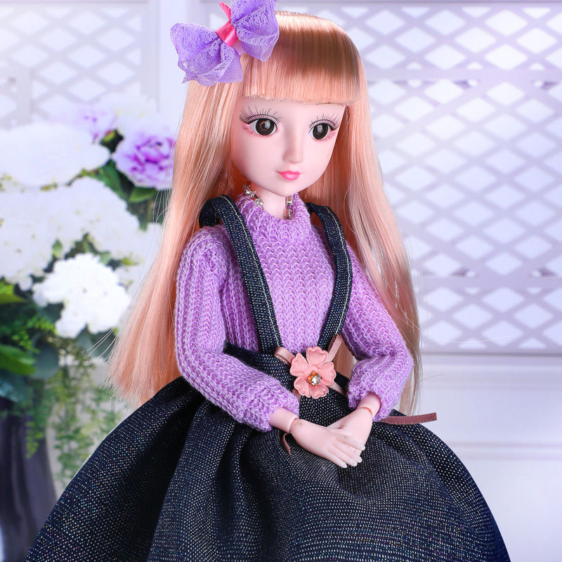Conjunto de muñecas BJD de 40CM, caja de regalo DIY, juguete de Maquillaje, vestido, accesorio de muñeca, niña, juguetes, muñecas de princesa para regalo infantil
