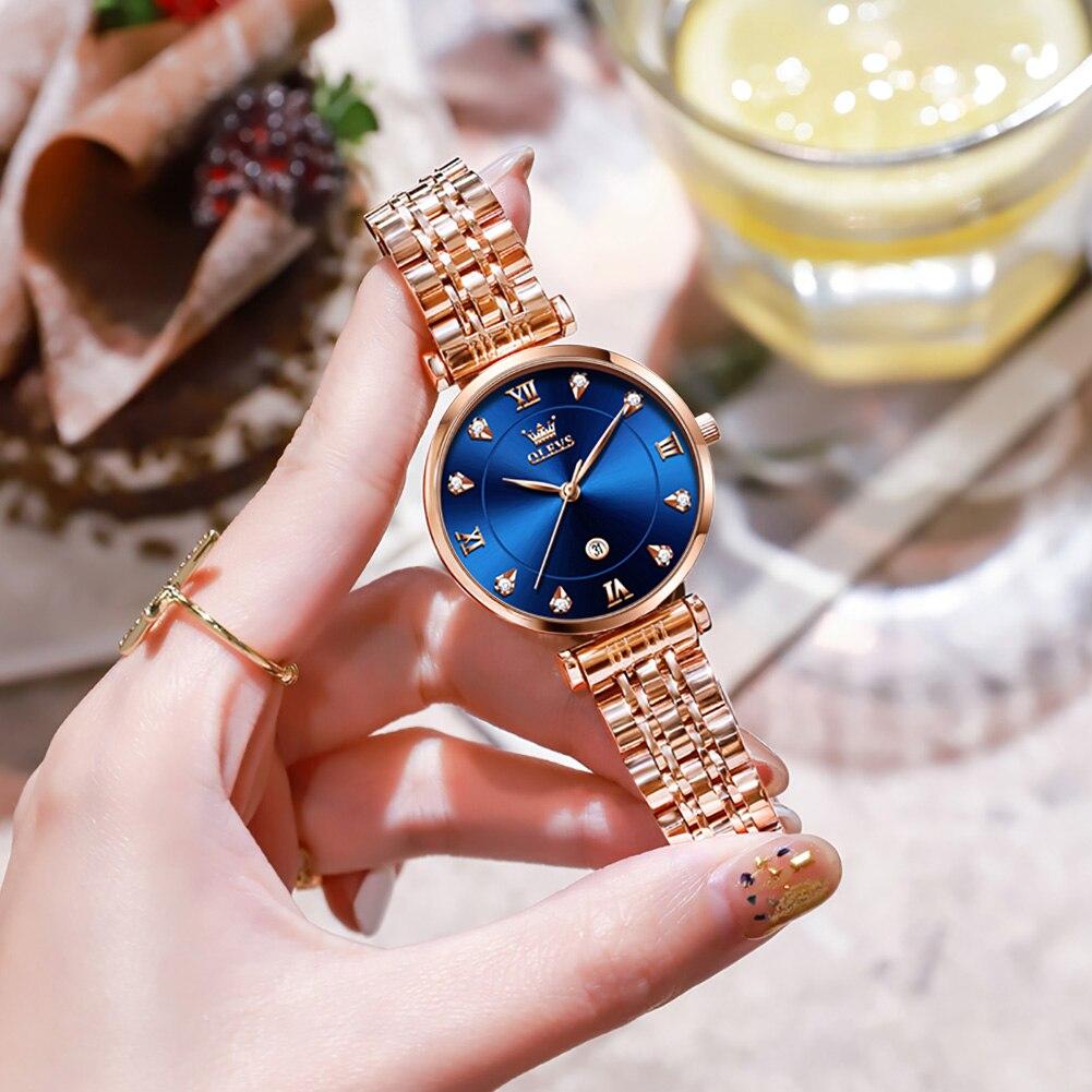 Relogio Feminino Women Watches Top Brand Luxury Waterproof Calendar Women's Quartz Wristwatches Casu