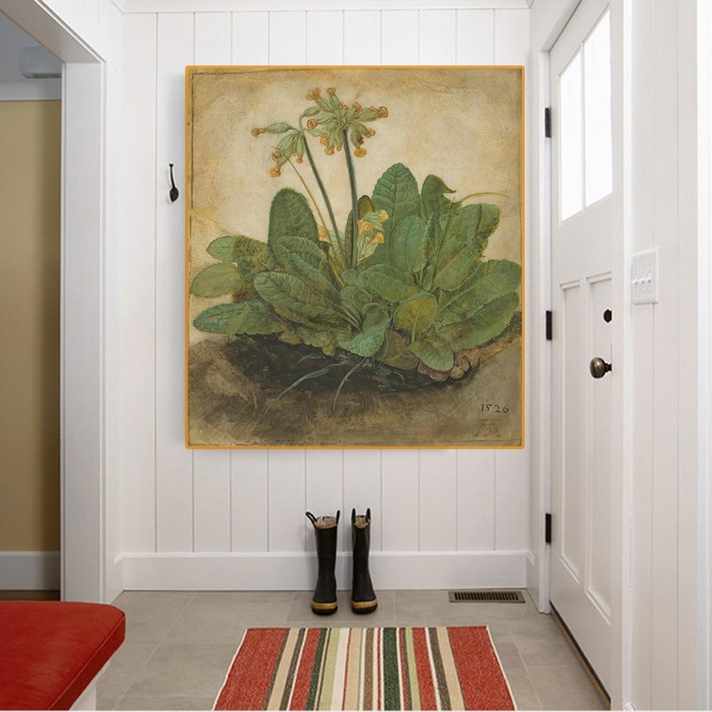 Citon lona albrecht durer tutuft of cowslips art arte pintura a óleo imagem da arte moderna decoração da parede casa sala de estar decoração