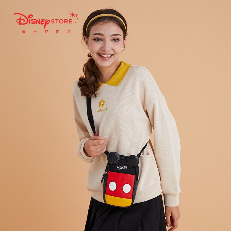 Authentic Disney Official Cartoon Cute Mickey Trend Casual Messenger Bag New Female Small Bag