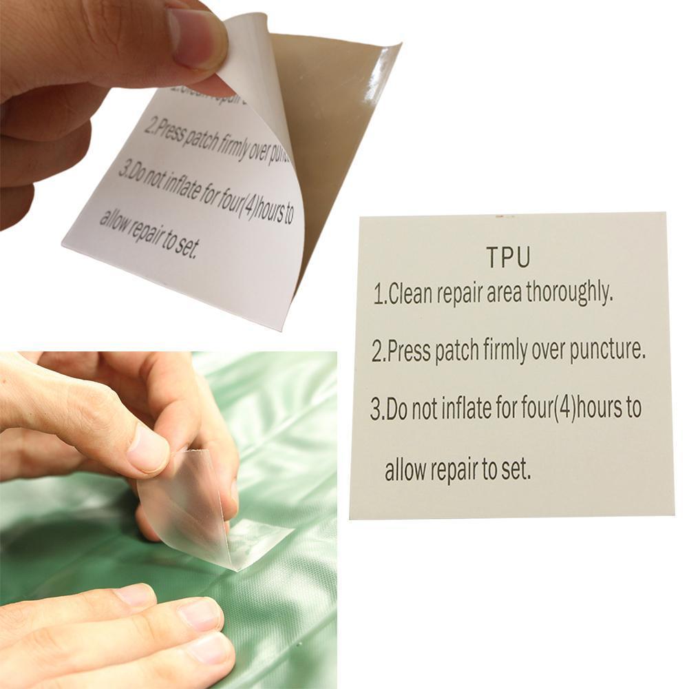 200/10 piezas inflable TPU resistente al agua parche adhesivo anillo de natación flotador cama de aire reparación pasta pegamento tienda accesorios Dropship