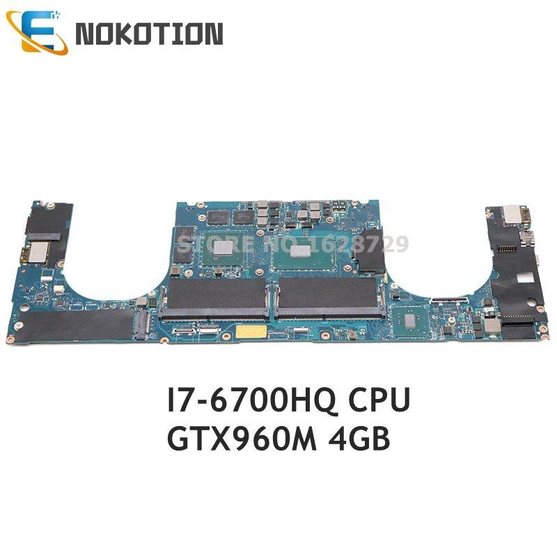 NOKOTION لديل XPS 15 9550 اللوحة المحمول GTX960M 4GB SR2FQ I7-6700HQ 2.6GHz CPU CN-0Y9N5X 0Y9N5X AAM00 LA-C361P