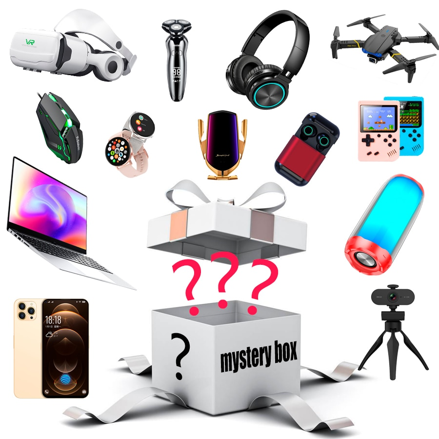 Lucky Mystery Box Such As Drones Phone Smart Watches Gamepad Lucky Electronic Blind Box 100% Surpris