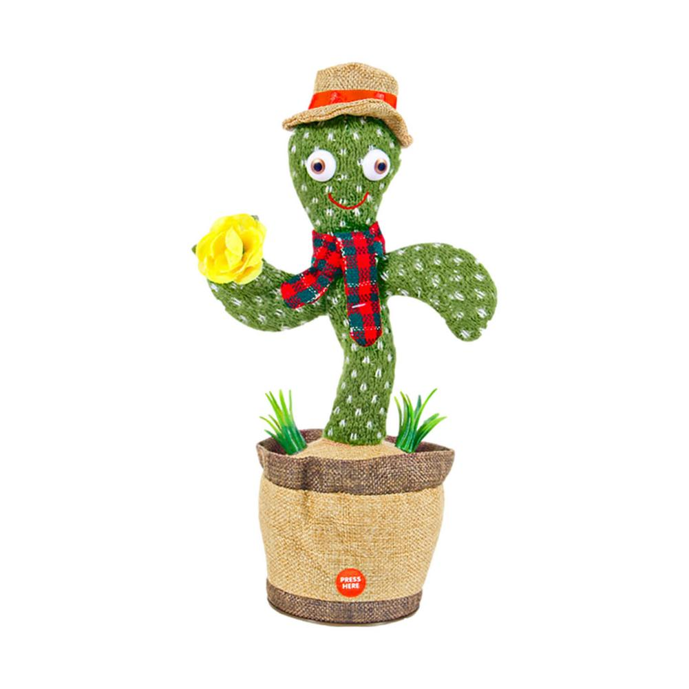 Plush Cactus Toy Musical Stuffed Potted Toys Kids Electronic Shake Dancing With The Song Cute