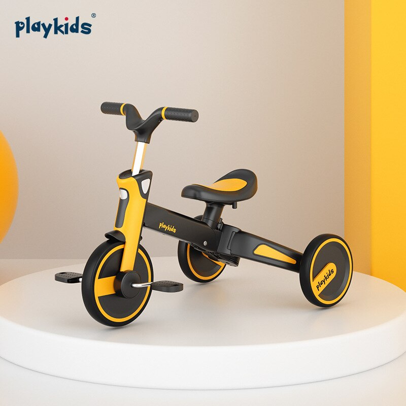 LUDDY Playkids Proco Children's Tricycle Foldable Baby Walker Artifact 1-5 Years Old Bicycle Two-way Trolley enlarge