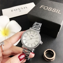 Fossil- Quartz Wrist Dress Women Watches Silver Bracelet Ladies Watch Stainless Steel Clock Casual W