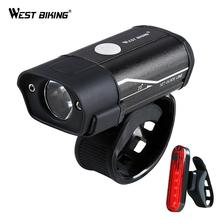 WEST RADFAHREN Fahrrad Licht T6 L2 LED Fahrrad Scheinwerfer Rücklicht Kit USB Akku Taschenlampe Radfahren Taschenlampe Fahrrad Lampe