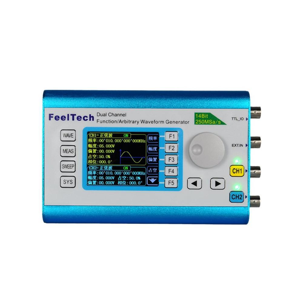 Generador de fuente de señal DDS de doble canal Digital función de forma de onda arbitraria 250MSa/s medidor de frecuencia de 15MHz