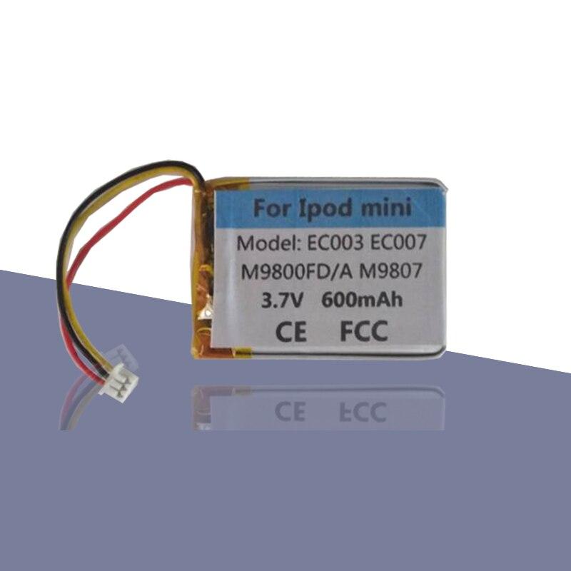 Original reemplazar EC007 EC003 batería para iPod Mini 4GB M9800FD/M9806X/Mini 6GB M9807 M9802 batería Accumualtor AKKU