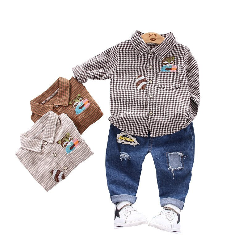 AliExpress - New Spring Autumn Baby Clothes Suit Children Boys Fashion Cartoon Shirt Pants 2Pcs/sets Toddler Casual Clothing Kids Tracksuits