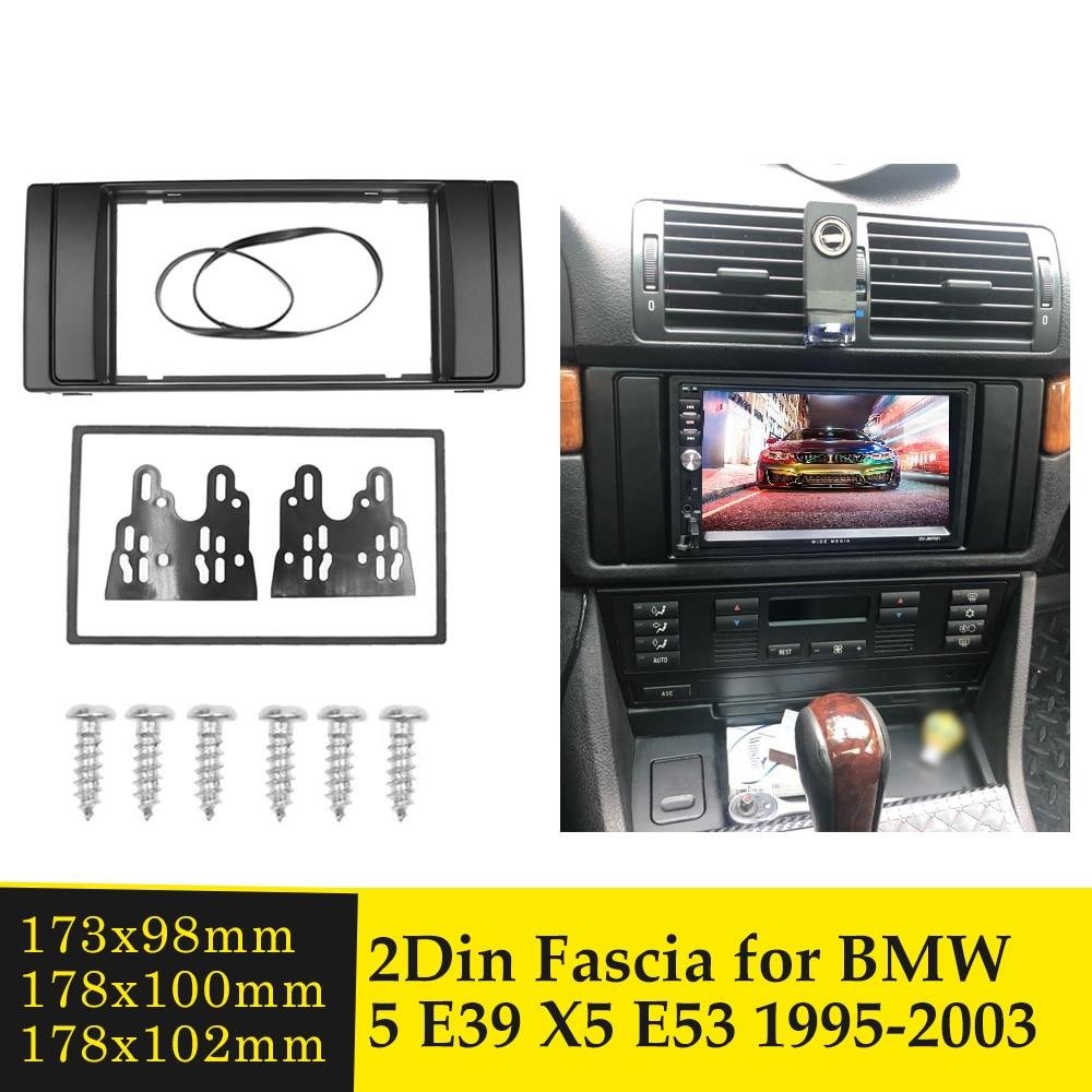 2DIN Car Fascia estéreo Auto Radio marco de montaje para BMW serie...
