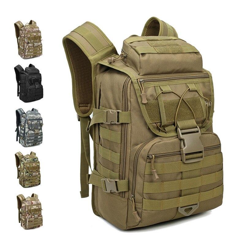حقيبة ظهر عسكرية تكتيكية كبيرة السعة للرجال 40 لتر ، حقيبة ظهر خارجية ، Molle ، للرحلات والتخييم والصيد والتنزه