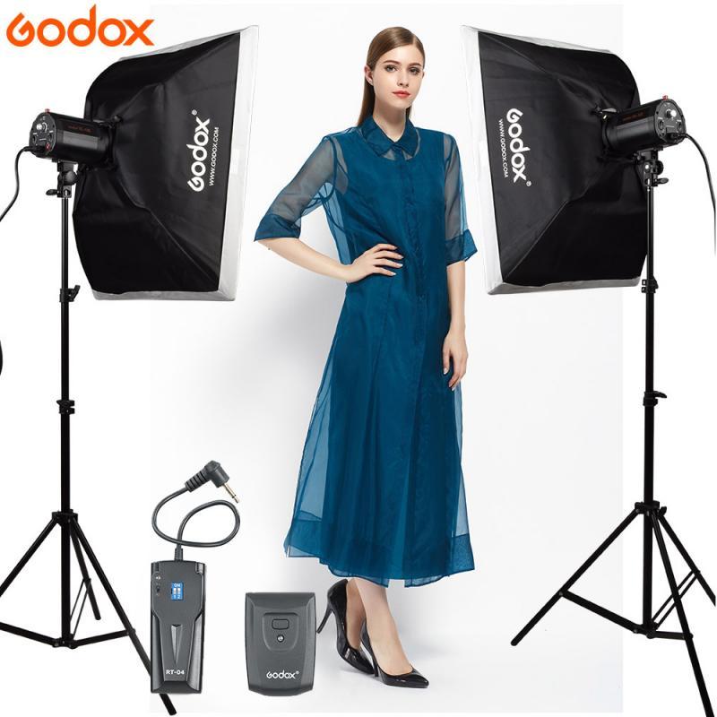 GODOX fotografia إضاءة الاستوديو 2 قطعة 160Ws 160DI فيديو ستروب ضوء فلاش مع سوفت بوكس 160DI عدة LED مصباح مع TR-04 فلاش الزناد