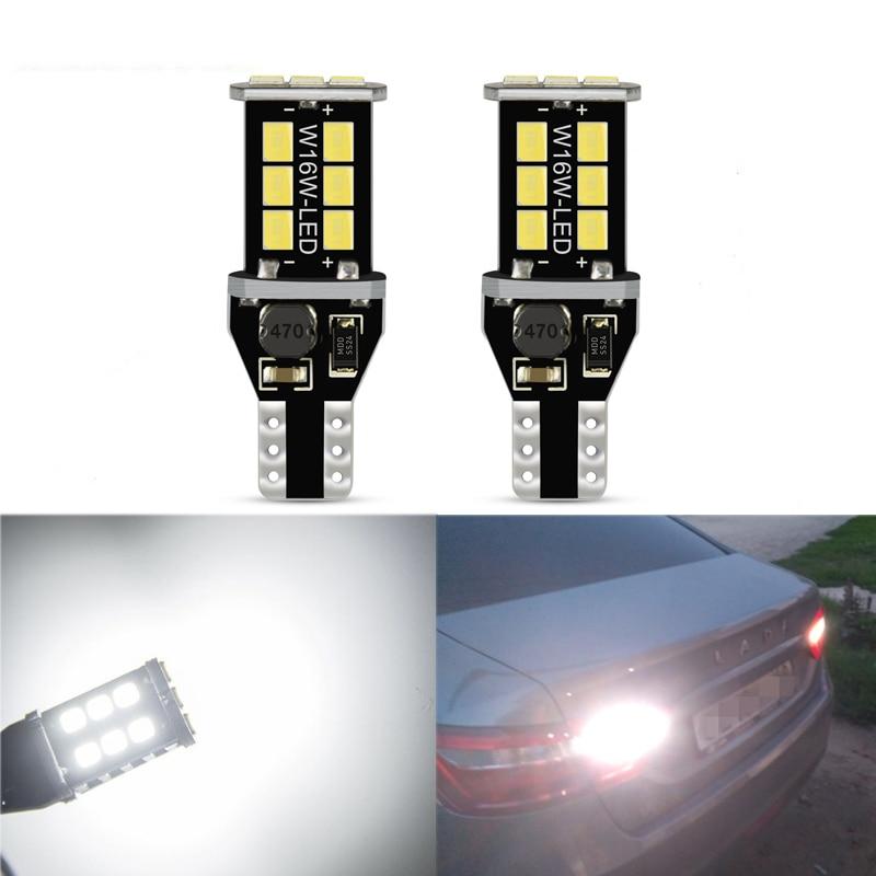2x W16W T15 LED Car Reverse Lamp Xenon White for Kia Rio 4 X-Line Lada Vesta VW POLO 6R 6C Ford Focus 3 MK3