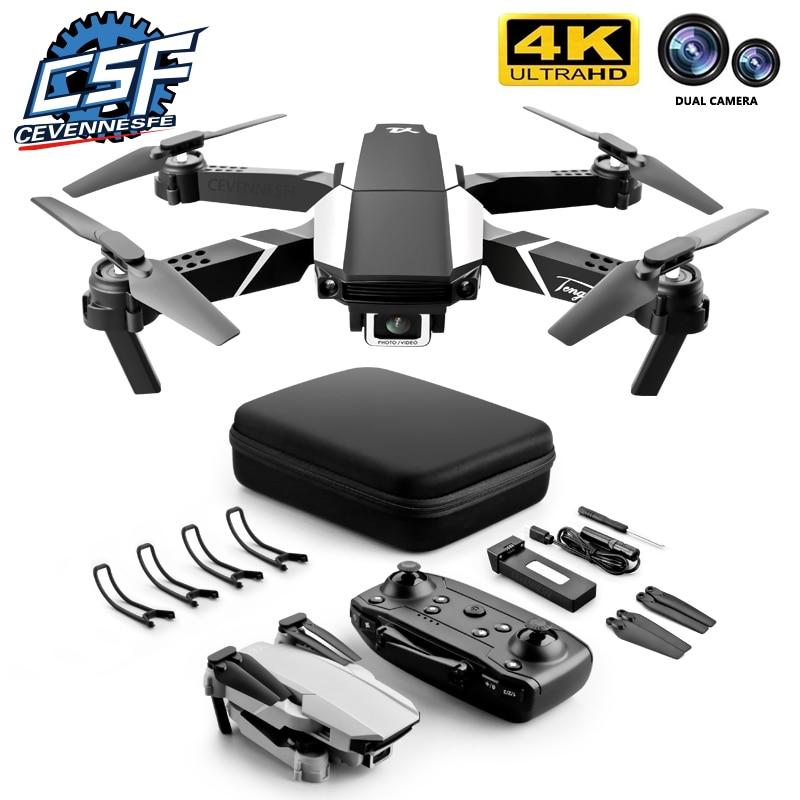 CEVENNESFE NEW Drone/ 4k HD Dual Camera Visual Positioning 1080P WiFi Fpv Height Preservation Rc Qua