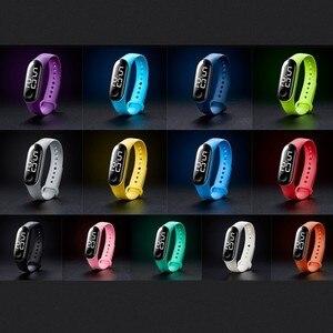 Women's Men watch LED Electronic Sports Luminous Sensor Watches Fashion Men and Women Watches  LED watch