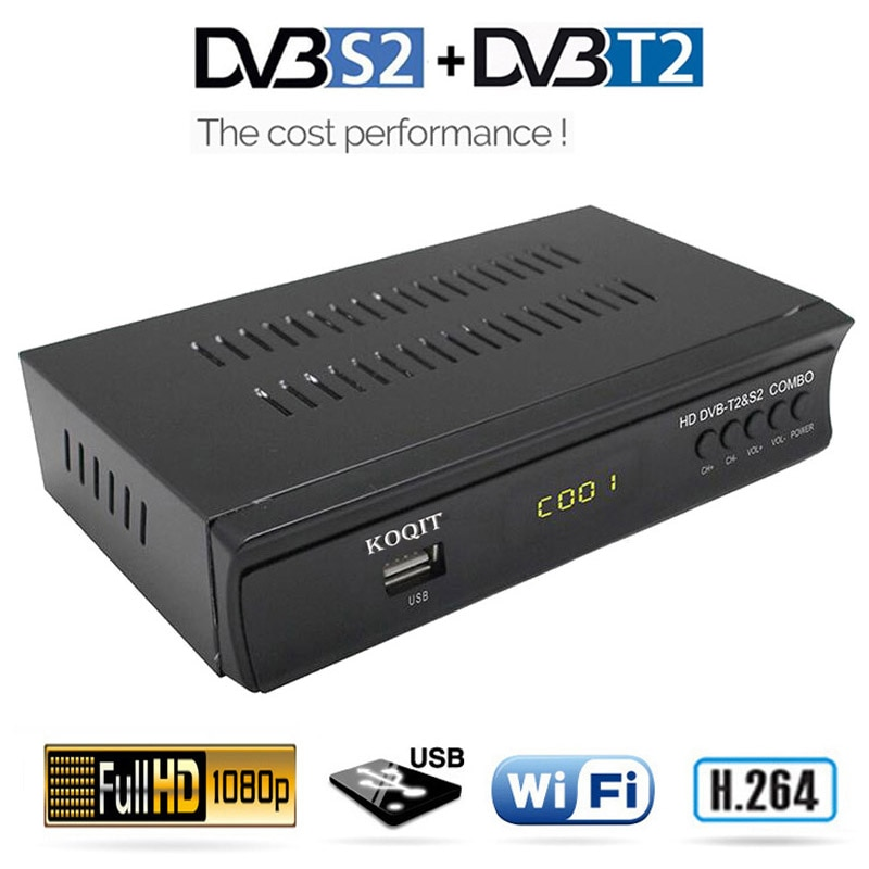 FTA HD Terrestrial DVB-T2 Digital TV Box DVB-S2 Satellite Receiver Tv Tuner DVB T2 Receptor Combo Wifi Scam /Biss H.264 MPEG-4