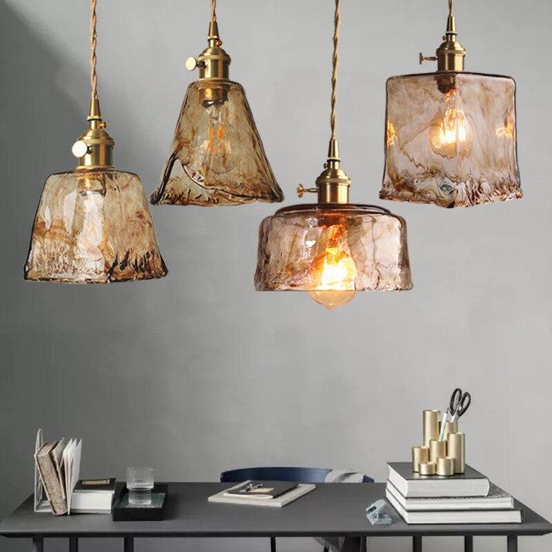 مصباح معلق مصنوع يدويًا من النحاس ، تصميم عتيق ، مثالي لغرفة المعيشة أو المطبخ أو المطعم أو المقهى أو البار.