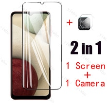 Screen Protector For Samsung A12 Tempered glass Camera glass Film On Galaxy A12 A21S A 12 21 21S Sam