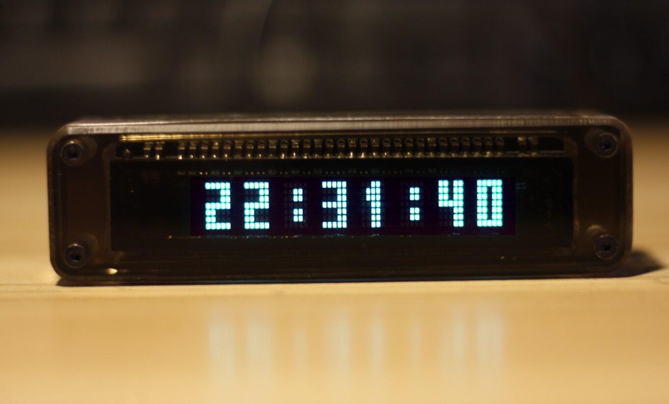 VFD8 سيارة صغيرة/المنزل VFD ساعة أنبوب الفلورسنت الرجعية الإلكترونية سيارة الابتكار على مدار الساعة