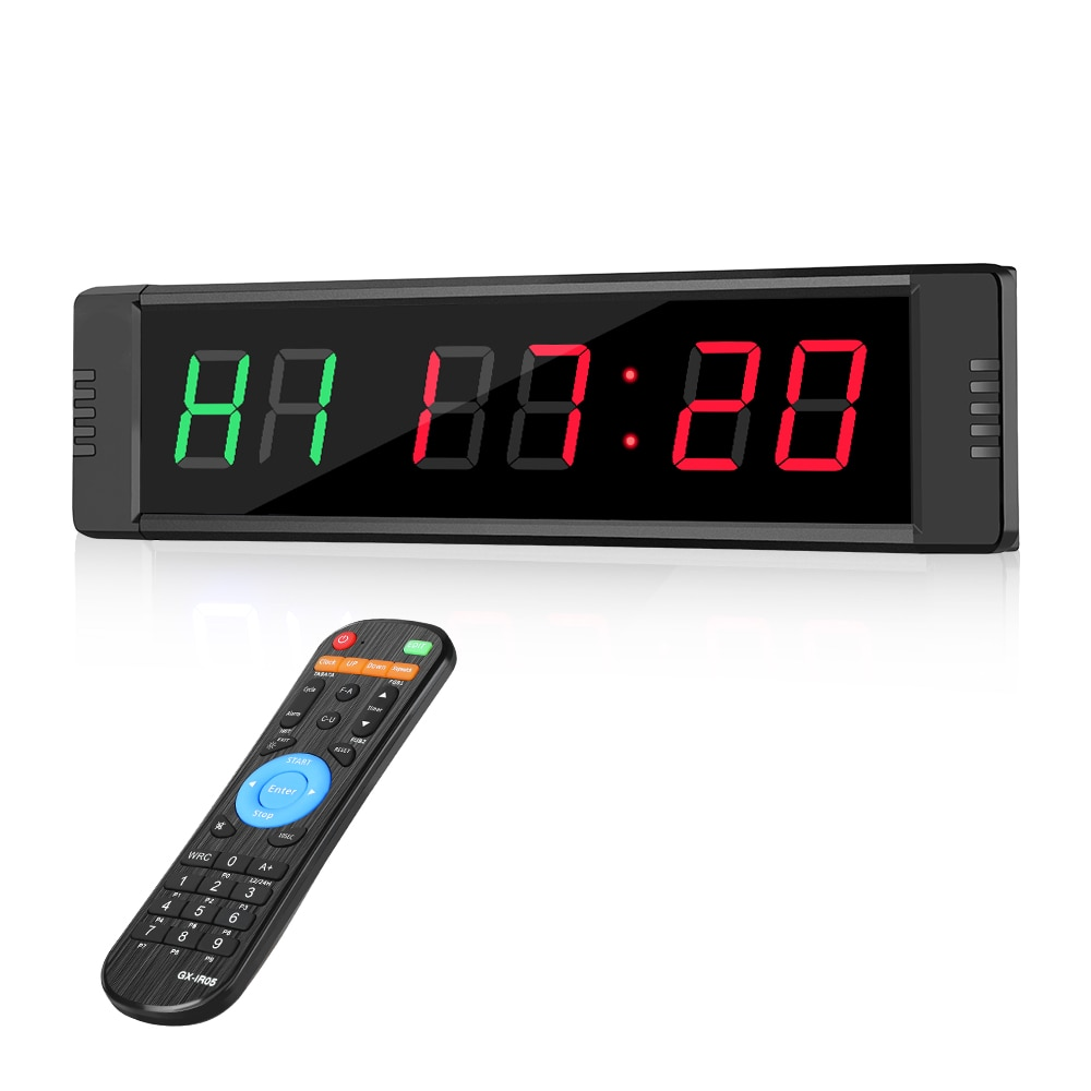 Programable Remote control LED crossfit timer Interval Timer garage timer sports training clock Crossfit gym timer