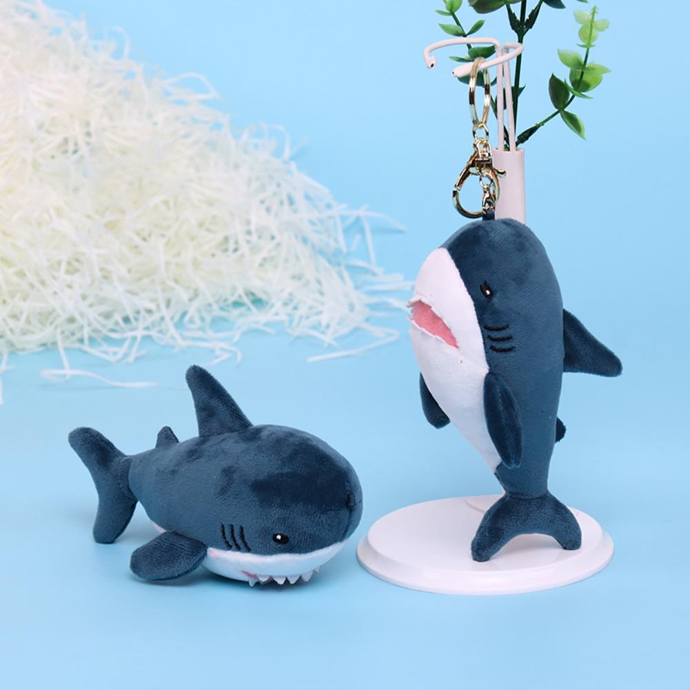 Mignon porte-clés parfumé doux aiguisé en peluche porte-clés sac pendentif clé porte-anneau suspendus ornement sac décor enfant cadeau dessin animé baleine