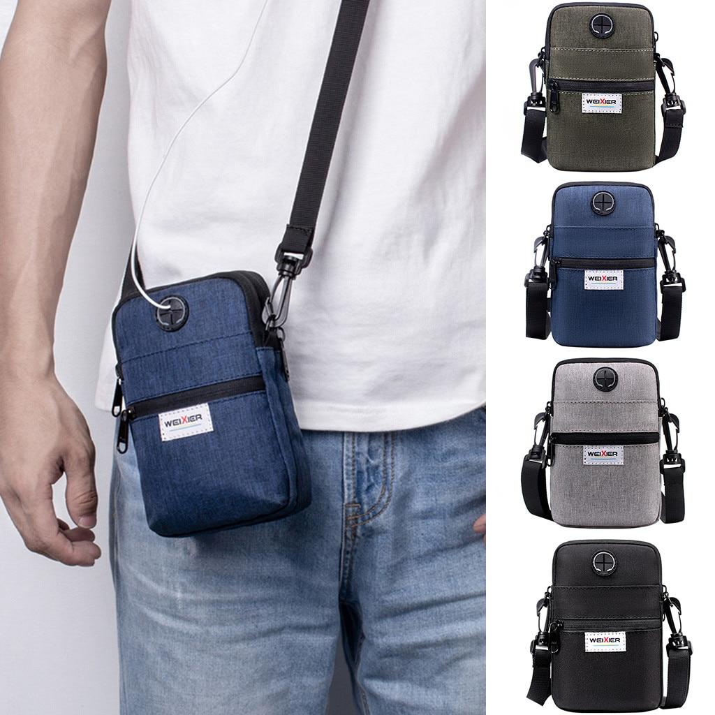 Umhängetaschen Männer Diagonal Mini Schulter Multi-Funktion Handy Tasche Outdoor-Sport Casual Bag Bolsa Masculina #15